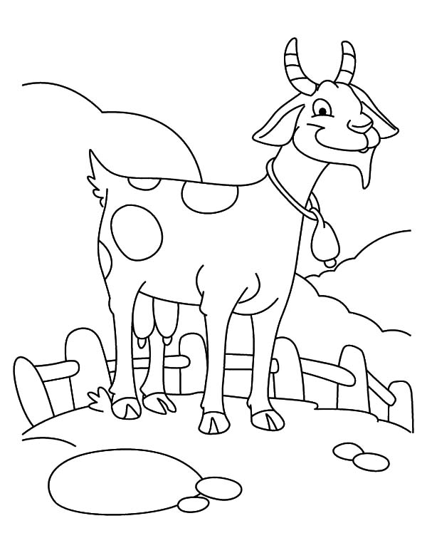 farming goat coloring pages