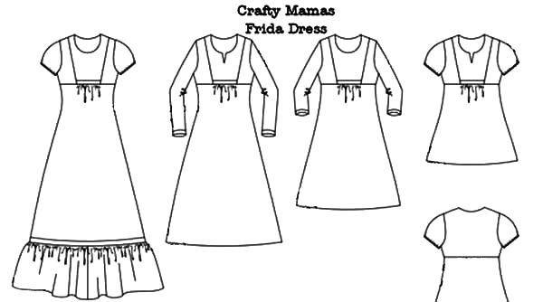 frida dress mexican dress coloring pages