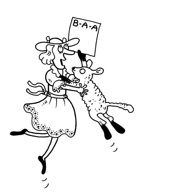 Mary Had a Little Lamb, Funny Picture Of Mary Had A Little Lamb Coloring Pages: Funny Picture of Mary Had a Little Lamb Coloring Pages