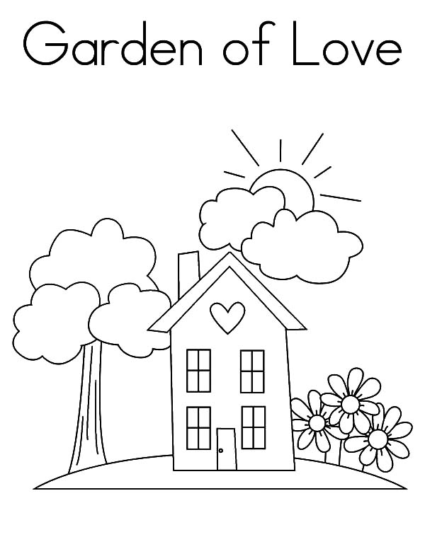 Garden, Garden Of Love Coloring Pages: Garden of Love Coloring Pages