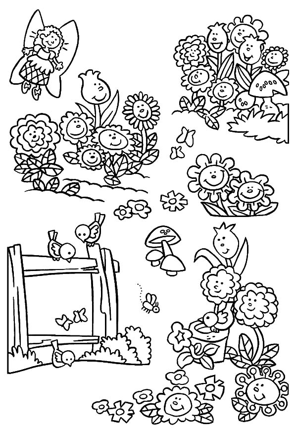 Garden of Singing Flower Coloring Pages: Garden of Singing Flower ...