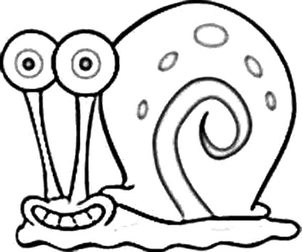 Gary the Snail Grin Coloring Pages Color Luna