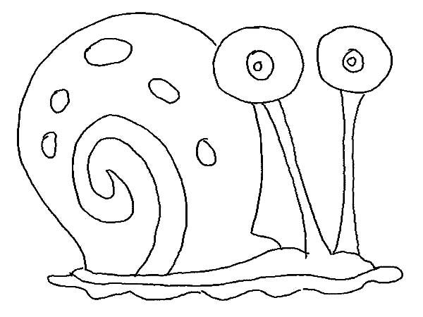Gary The Snail Outline Coloring Pages PagesFull Size