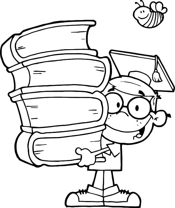 genius kid graduation coloring pages