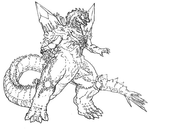 Godzilla, Godzilla Coloring Pages: Godzilla Coloring Pages