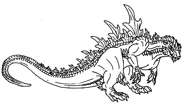 Godzilla, Godzilla Picture Coloring Pages: Godzilla Picture Coloring Pages