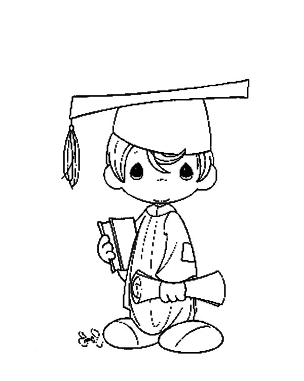 graduation after 5 years study coloring pages