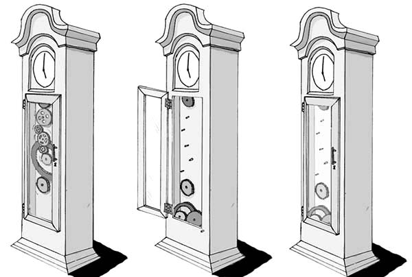 Grandfather Clock, Grandfather Clock Complicated Setting Coloring Pages: Grandfather Clock Complicated Setting Coloring Pages