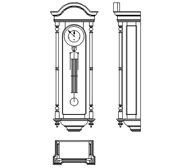 Grandfather Clock, Grandfather Clock Furniture Coloring Pages: Grandfather Clock Furniture Coloring Pages