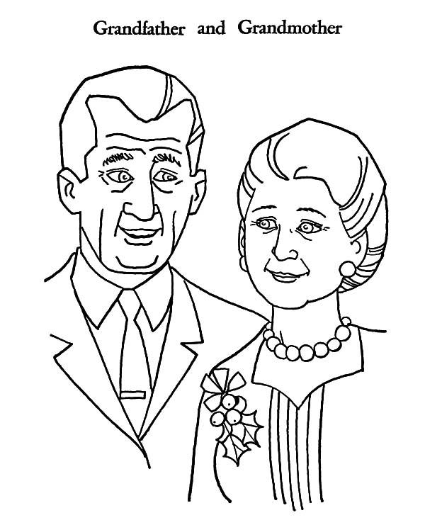 Grandfather, Grandfather And Grandmother Coloring Pages: Grandfather and Grandmother Coloring Pages
