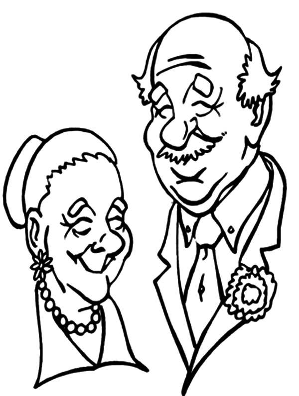 Grandfather, Grandfather And Grandmother Picture Coloring Pages: Grandfather and Grandmother Picture Coloring Pages