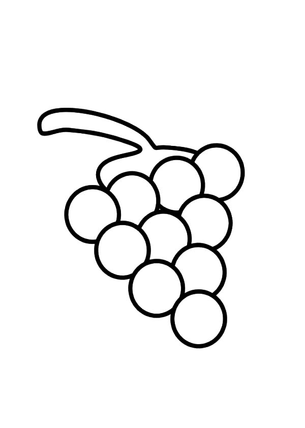 Smiling Grapes Coloring Pages Color Luna