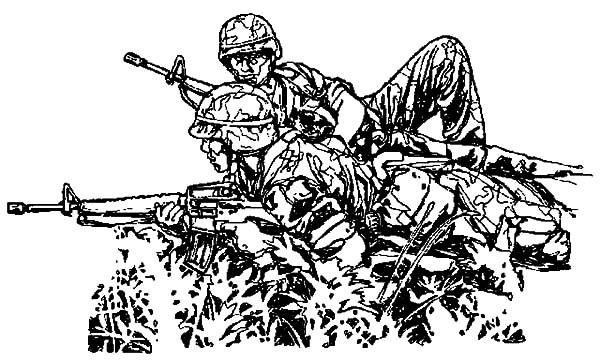 Guerilla Military Coloring Pages | Color Luna