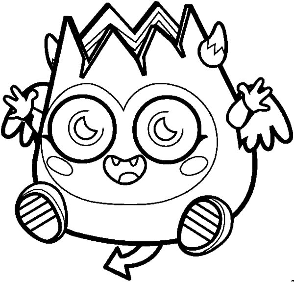 Moshi, Happy Laughing Moshi Monsters Diavlo Coloring Pages: Happy Laughing Moshi Monsters Diavlo Coloring Pages