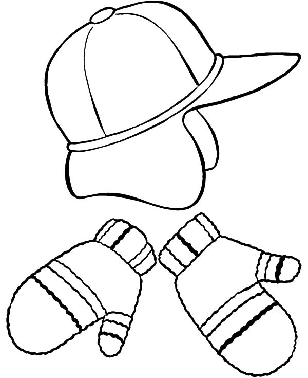 Mittens, Hat And Mittens Coloring Pages: Hat and Mittens Coloring Pages