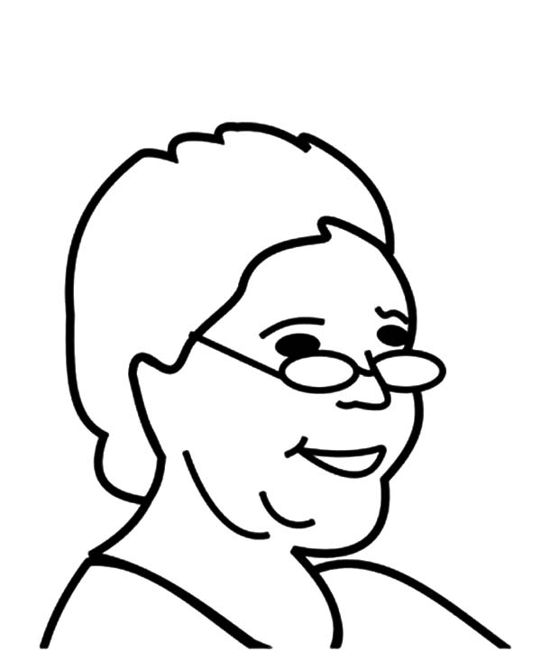 Grandmother, : How to Draw Grandmother Coloring Pages