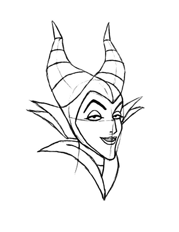 How to Draw Maleficent Coloring Pages Color Luna