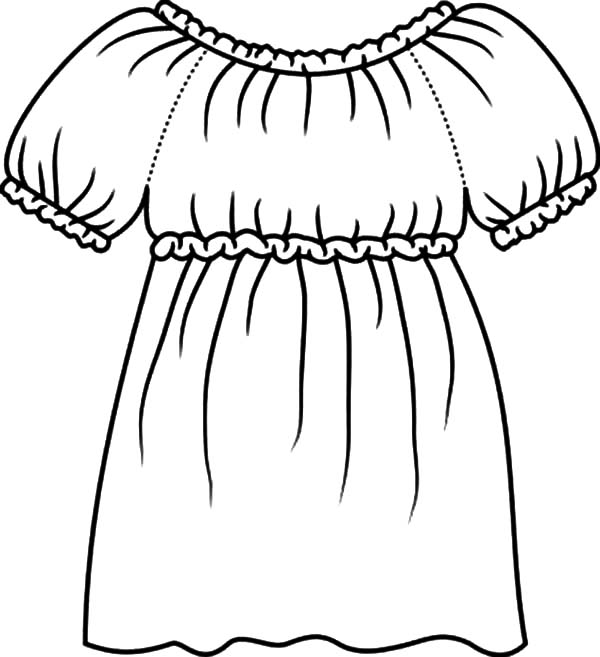 Colouring Pages National Costumes Chinese Clothes