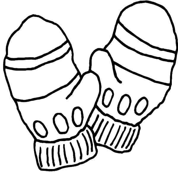 Three pair of mittens coloring pages color luna for Coloring pages of mittens and gloves