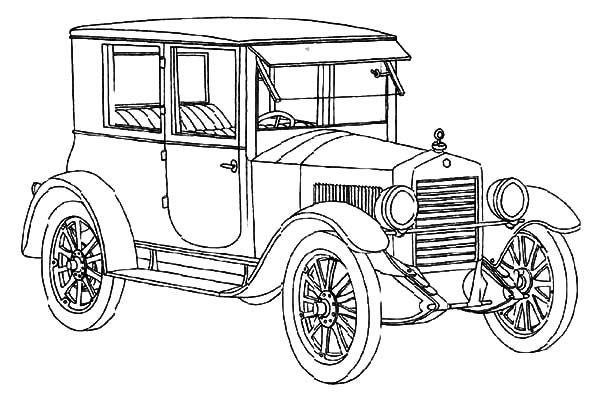 Model t Car, How To Draw Model T Car Coloring Pages: How to Draw Model T Car Coloring Pages