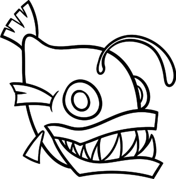 How To Draw Monster Fish Coloring Pages