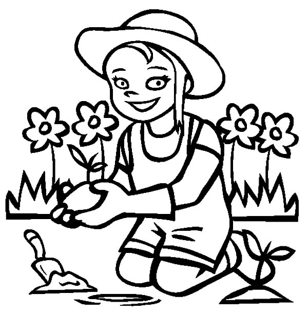 i love my garden coloring pages
