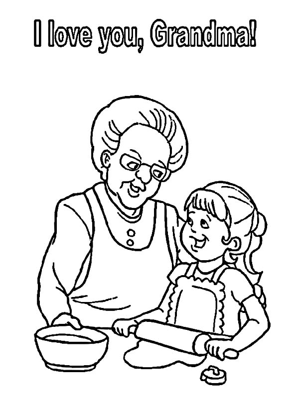 I Love You Grandmother Coloring Pages