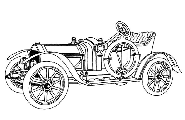 Model t Car, Introducing Model T Car Coloring Pages: Introducing Model T Car Coloring Pages