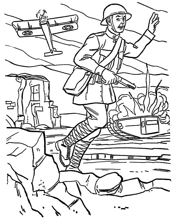 world war ii free colouring pages