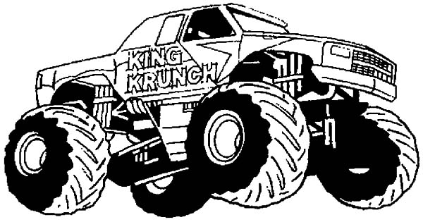 Monster Jam, King Krunch Monster Jam Coloring Pages: King Krunch Monster Jam Coloring Pages