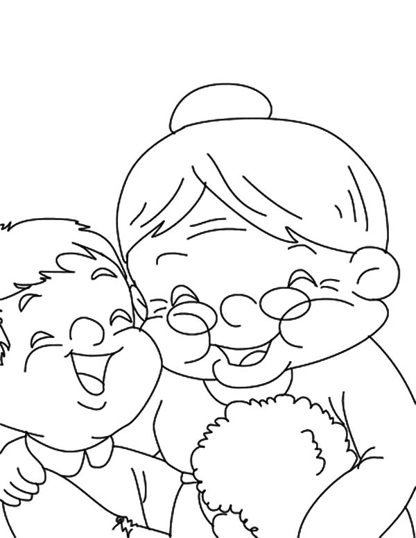 Grandmother, Laugh With My Grandmother Coloring Pages: Laugh with My Grandmother Coloring Pages