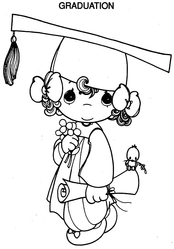 little going to graduation party coloring pages