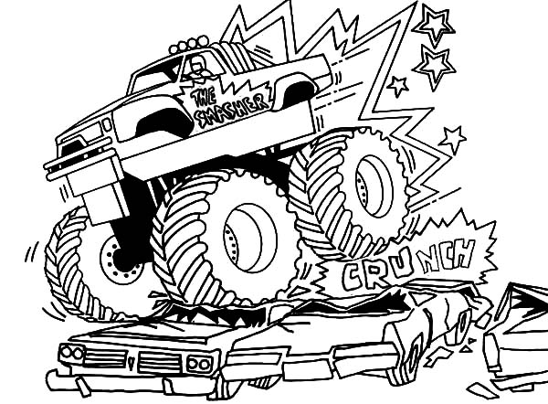 Monster Jam, Live Motorsport Event Monster Jam Coloring Pages: Live Motorsport Event Monster Jam Coloring Pages