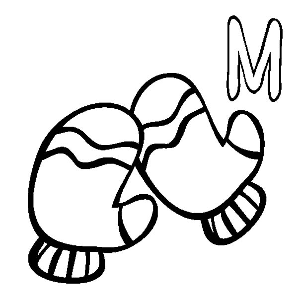 Mittens, M Is For Mittens Coloring Pages: M is for Mittens Coloring Pages