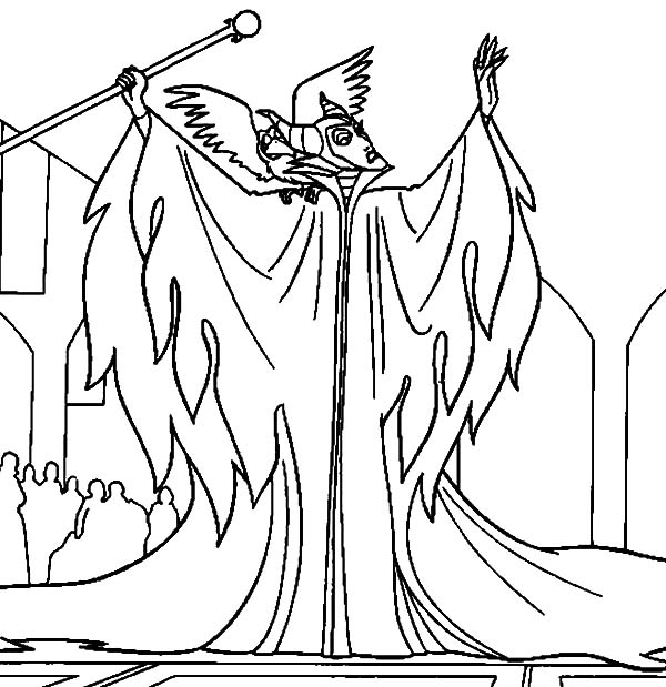 Maleficent is Angry to King Stefan Coloring Pages Color Luna