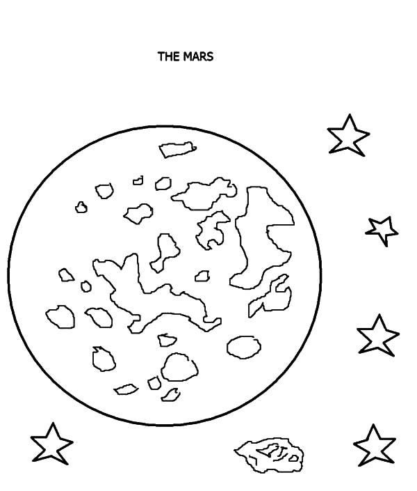 Mars, Mars The Red Planet Planet Coloring Pages: Mars the Red Planet Planet Coloring Pages