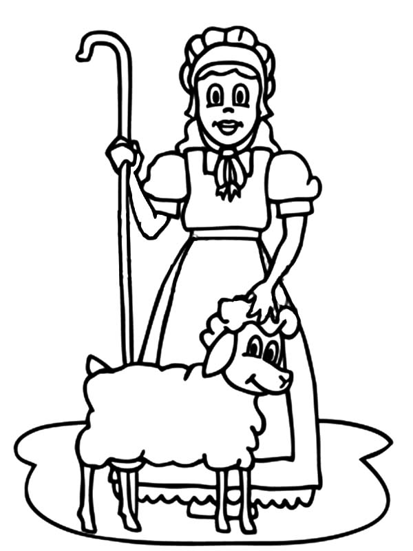 mary had a little lamb gnome coloring pages