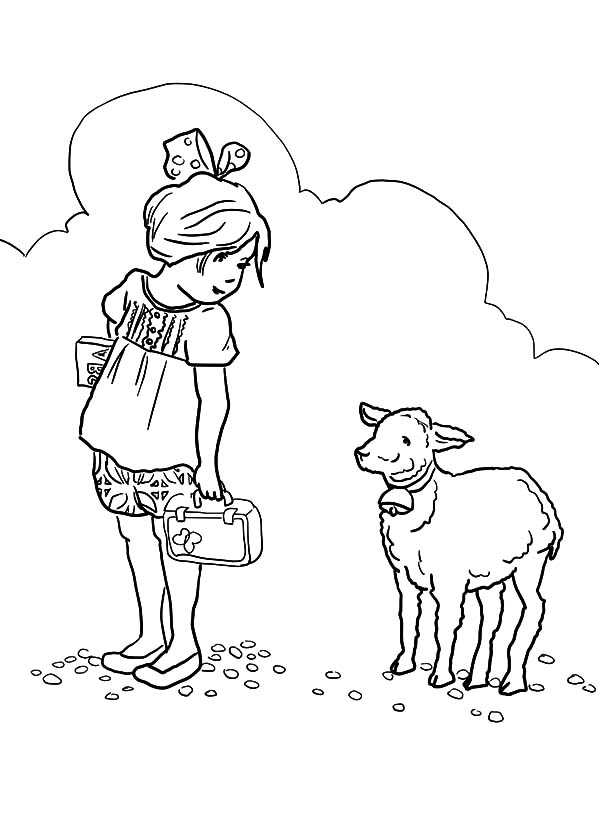 mary had a little lamb she at her lamb coloring pages