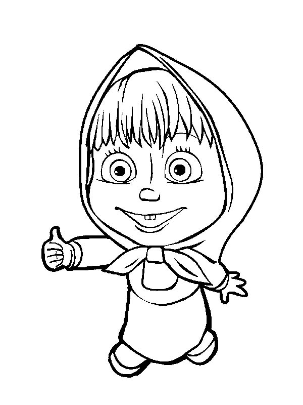 Masha And The Bear, Masha And The Bear Is Agree With Bear Coloring Pages: Masha and the Bear is Agree with Bear Coloring Pages