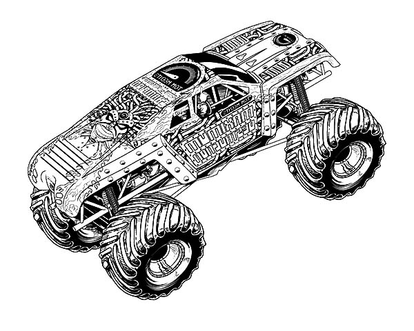 MaxD Truck Monster Jam Coloring Pages MaxD Truck Monster Jam