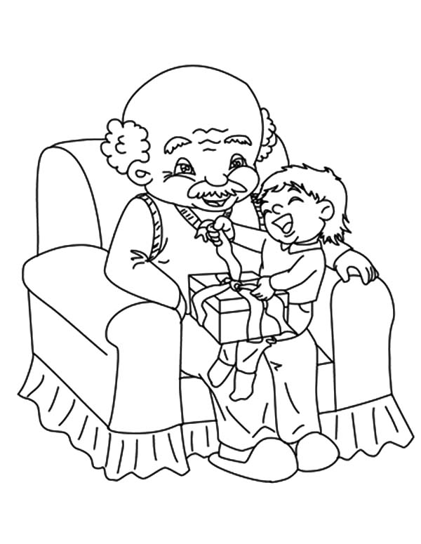 Grandfather, Me Sitting With My Grandfather Coloring Pages: Me Sitting with My Grandfather Coloring Pages
