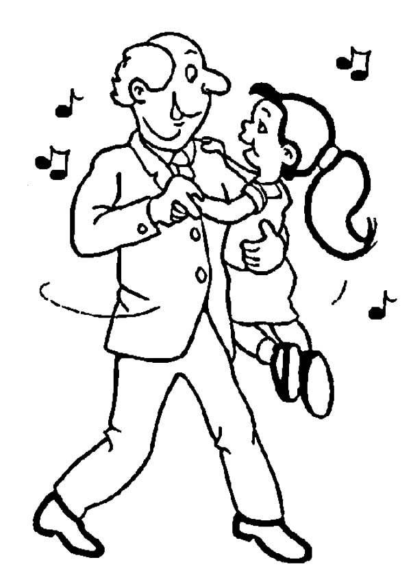 Grandfather, Me And My Grandfather Dance Coloring Pages: Me and My Grandfather Dance Coloring Pages