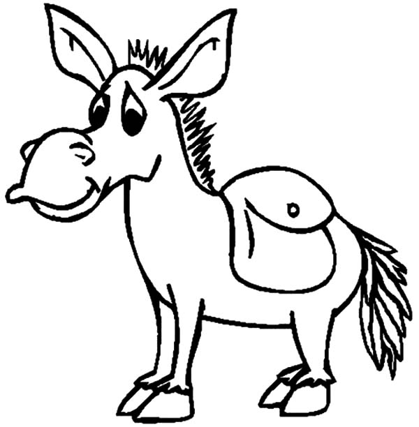 Mexican Donkey, Mexican Donkey Look Sad Coloring Pages: Mexican Donkey Look Sad Coloring Pages