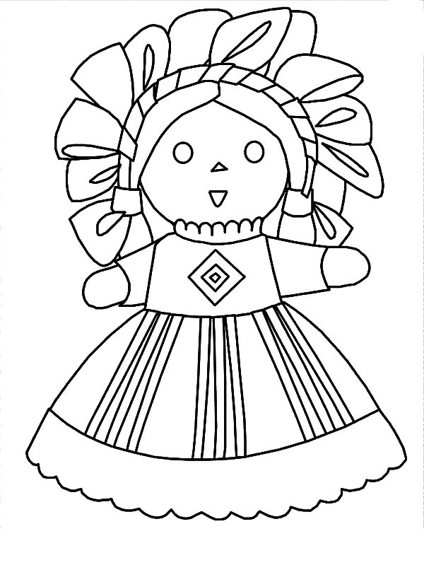 Mexican Dress Doll Coloring Pages Mexican Dress Doll Coloring