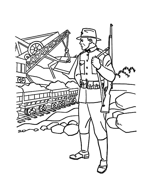 military dog printable coloring pages - photo#36
