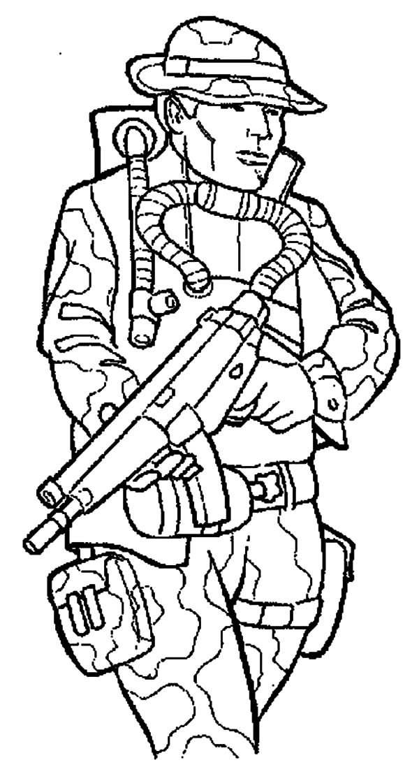Military, Military Marching Soldier Coloring Pages: Military Marching Soldier Coloring Pages