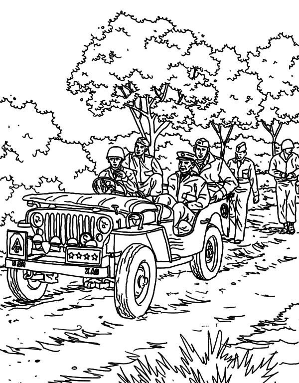 military parade coloring pages