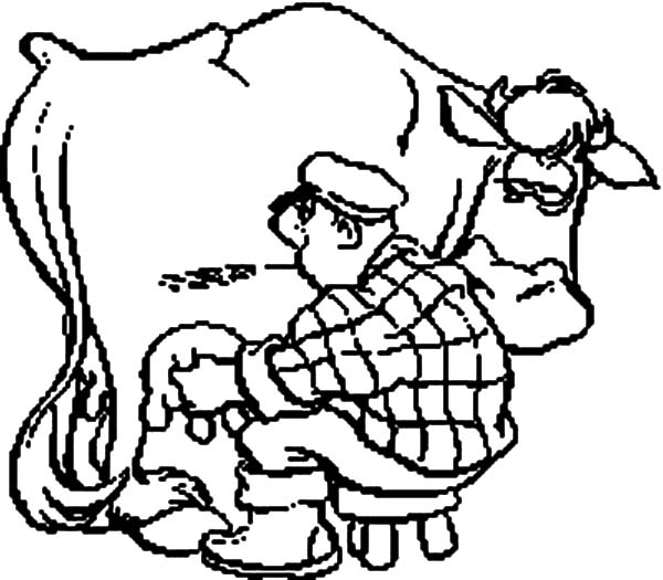 milking cow coloring pages for kids