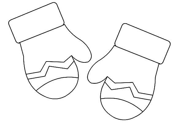 Mittens Gloves Coloring Pages