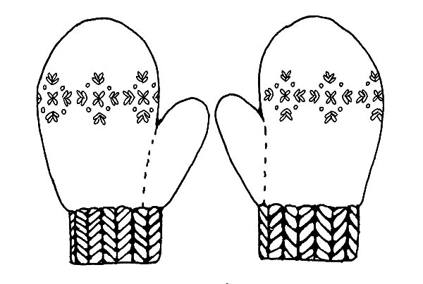 Mittens Keep Your Hand Warm Coloring Pages  Color Luna